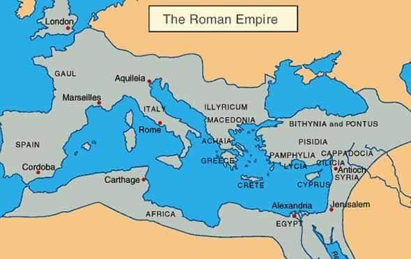 Roma İmparatorluğu nerelere kadar ulaştı.